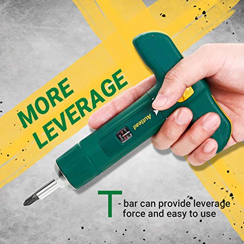 Torque Screwdriver, T-shape Torque Wrench of Wide Range 15-75 Inch Pound in 1 Increment, 12 Pcs 1/4