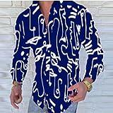 Camisa de Cuadros Fashion Streetwear Mens Long Sleeve Print Shirt Spring Autumn Men Poker Printed Casual Shirts Male Dress Shirts XXL YHCS-19
