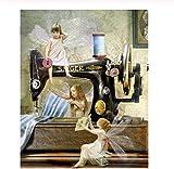 Muralpuzzle Rompecabezas Clásico De 300 Piezas, Máquina De Coser De Elfo para Adultos, Decoración De Sala De Estar, Dormitorio, Juguetes Divertidos para La Familia