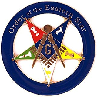 "3/"" Tall /& Wide Order of the Eastern Star Medium Reflective Decal Sticker"