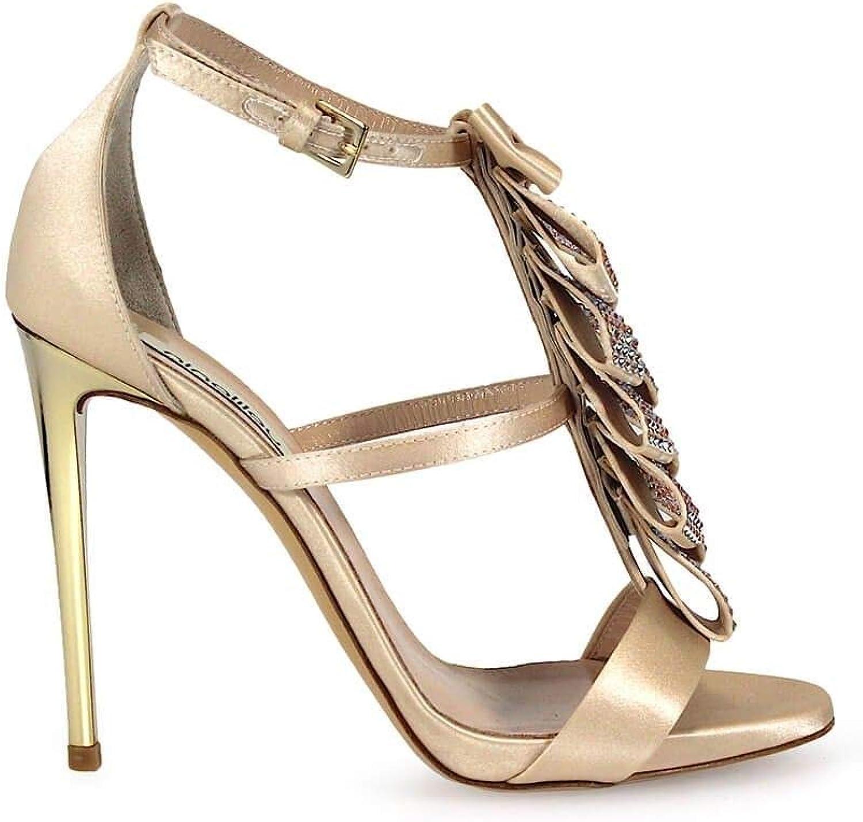 NINALILOU Damen 271001S1 Gold Gold Leder Sandalen  genieße 50% Rabatt
