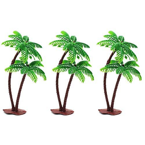 Doyeemei 3個入り 樹木 模型 モデルツリー 人工ヤシ ミニ 13cm 風景 モデル人工椰子 木 熱帯雨林 ヤシの木 ...