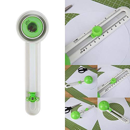 Drehpapierschneider, ABEDOE Round Patchwork Compass Kreisschneider Scrapbooking Papierschneider