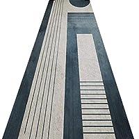 廊下の敷物のためのランナー敷物のための敷物の敷物、灰色の青い家の装飾の長いカーペット、家族&ペットにやさしい、滑り止めのカスタムサイズ (Color : A, Size : 60x200cm)