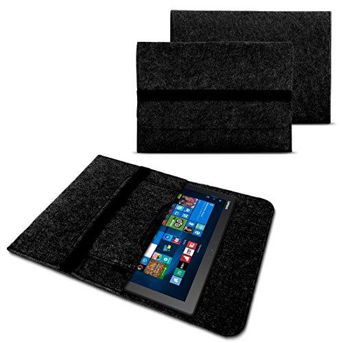 NAUC Tasche Hülle für Acer Switch Alpha 12 Filz Sleeve Schutzhülle Laptop Hülle Cover Notebook Bag aus Filz in Grau mit Innentaschen & sicheren Verschluss