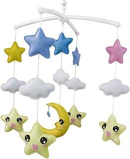 Jouet de décoration de lit bébé Mobile musical musical pour berceau fait main en tissu non tissé M04
