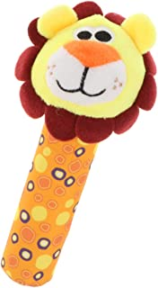 Generic Cute Stuffed Animal Baby Soft Plush Hand Rattle Squeaker Stick Toy - Lion, as described