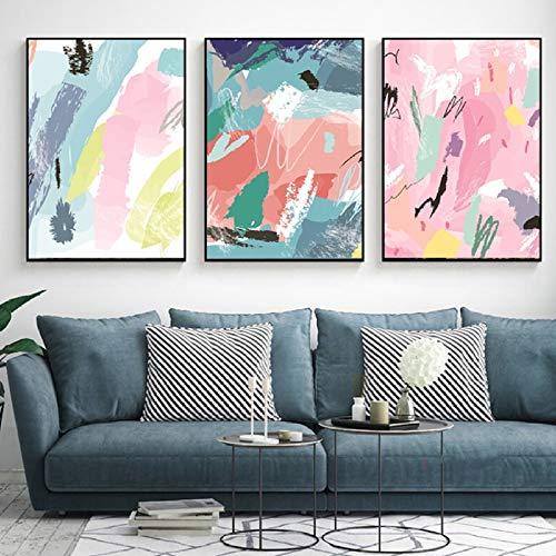 Zwart-wit gitaar taart cookie zwembad abstracte kleur leven decoratie huis poster foto print muur canvas schilderij drieluik 5 50x70cmx3 GEEN frame