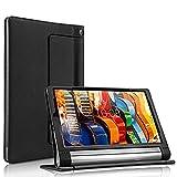 XEPTIO Housse Lenovo Yoga Tab 3 Pro et Lenovo Yoga 3 10 Plus Cuir Style Noire avec Stand - Etui...