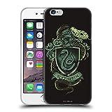 Head Case Designs Oficial Harry Potter Slytherin Reliquias de la Muerte XIV Carcasa de Gel de Silicona Compatible con Apple iPhone 6 / iPhone 6s