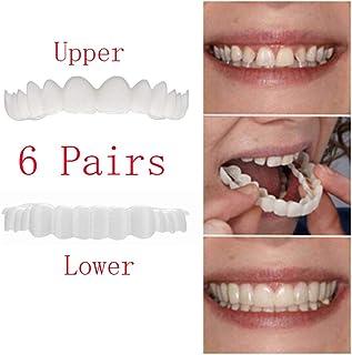 新しい健康な歯6組シミュレーション入れ歯義歯接着剤一時的な笑顔快適な自然な歯のパーソナルケアホワイトニング歯
