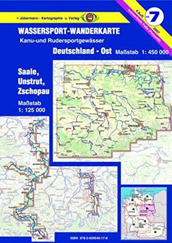 Wassersport-Wanderkarte / Kanu-und Rudersportgewässer: Jübermann Wassersport-Wanderkarten, Bl.7, Deutschland-Ost