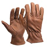 American Made Buffalo Leather Work Gloves , 650, Size: Medium