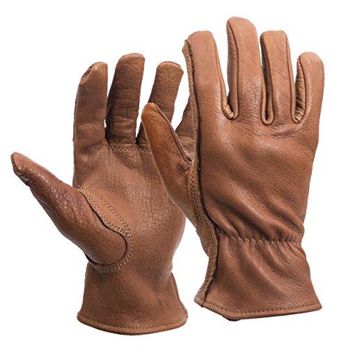 American Made Buffalo Leather Work Gloves , 650, Size: Medium