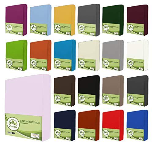 leevitex® Jersey Spannbettlaken, Spannbetttuch 100{42db08ea409666c5510448fc94a4fd8dd8fa9cb18b52f5fa2d1186a63810a271} Baumwolle in vielen Größen und Farben MARKENQUALITÄT ÖKOTEX Standard 100 | 180 x 200 cm - 200 x 200 cm - Rosa