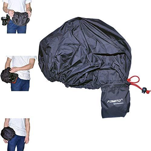 Fomito Protezione antipioggia, impermeabile, per custodia della fotocamera Canon Nikon, Pendax, Sony, DSLR, ecc