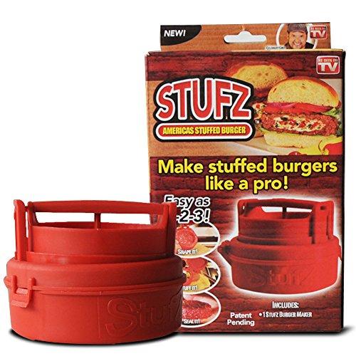 As-onTV XM00099 Stufz Stuffed Press Sealed Sliders Regular Burgers Pat, red