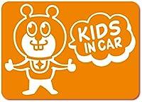 imoninn KIDS in car ステッカー 【マグネットタイプ】 No.66 グッドさん (オレンジ色)