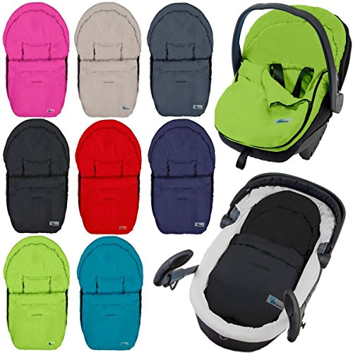 Fußsack / Sommerfußsack für Babyschale Kinderwagenschale Kinderwagen (DUNKELGRAU)