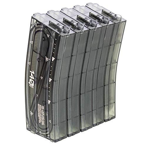 140 balines M16 Cargador para M4 / M16 Airsoft AEG (5PCS / Caja) Transparente