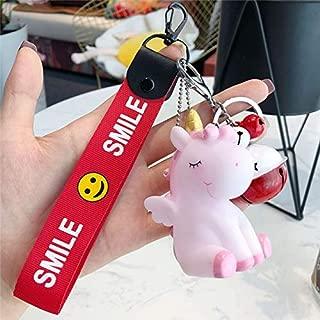 Cartoon Animal Unicorn Doll Keychain PVC Unicorn Figure Toys Kids Girls Backpack Ornament Key Chain Clef Keyring Horse Doll Gi New Must Haves Unique Gifts Childrens Favourites Superhero Toys