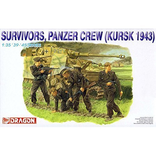 dragoen 1/35 WW.II tripulacioen del Tanque alemaen [Escape] Kursk 1943 (Figura 4...