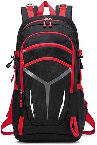 HFL Sac à Dos Plein air, Sac à Dos Grande capacité pour Hommes et Femmes pratiquant l'alpinisme,rouge