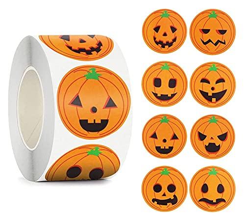 800 unids/Rollos Pegatinas de Calabaza de Halloween Halloween Calabaza autoadhesiva Pegatinas de Sellado Roll for envolvimiento de Regalo envolvimiento Halloween Fiesta Favores Decoración, Bricolaj