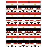 SpringPear 12x Temporär Tattoo von Flagge Ägypten für Internationale Wettbewerbe Olympischen Spiele Weltmeisterschaft Wasserfeste Fahnen Tätowierung Flaggenaufkleber WM Fan Set (12 Pcs)