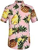 SSLR Men's Pineapple Casual Button Down Short Sleeve Hawaiian Shirt (Medium,...