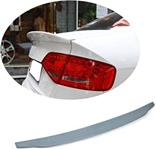 MCARCAR KIT Trunk Spoiler fits Audi A4 B8 Pre-facelift Sedan 2009-2012 Factory Outlet Unpainted Gray Rear Boot Lid Highkick Spoiler Wing Lip