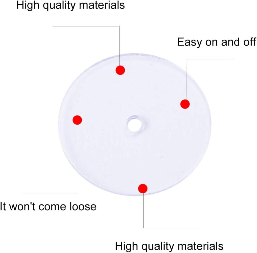 Healifty 80pcs Clear Disc Pads Earrings Stabilizer Plastic Earring Backs Stopper for Girls Ladies Women