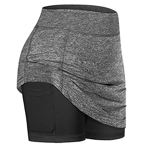 Best Price FD Izmn Women's Fake Tennis Skirts Running Yoga Inner Shorts Elastic Sports Golf Pockets ...