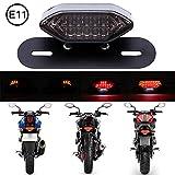 DREAMIZER Luces Traseras LED de Motocicleta,12V Luz de Freno Trasera de Moto Luz Indicadora de Señales de Giro Lámpara de Licencia(Fumar)