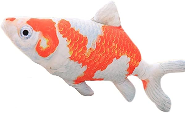 SUNONE11 13 78 3D Creative Goldfish Plush Stuffed Animals Soft Colorful Fish Doll Pillows Couch Cushion Bedroom Decorations Home Ornaments