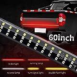 60 inch Triple Row LED Tailgate Light Bar, Truck Tailgate Light Strip w/4-Way