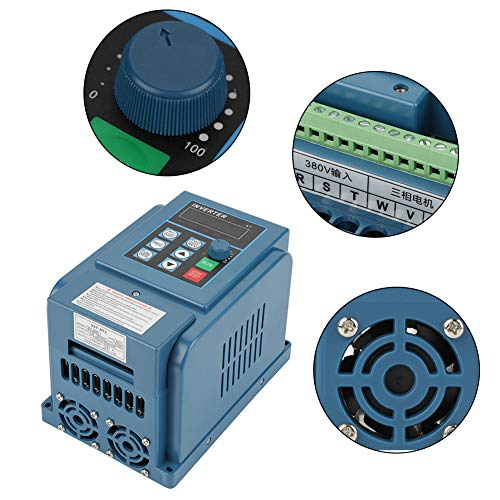 Universal VFD 3 Phase Frequenzumrichter, AC 380V 4KW 12A Drehzahlregler Inverter Motor Frequenzwandler mit Eingebautem Filter, V/F Closed Loop, PWM Kontroller