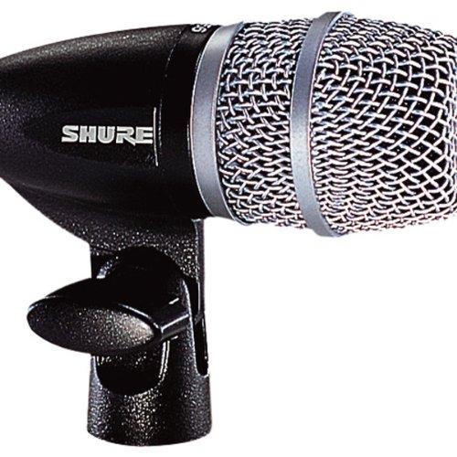 Shure PG56 zwarte dynamische XLR snare/Tom microfoon met kabel, clip, ritszakje, geïntegreerde statiefhouder en A50D drummount. B