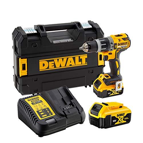 DeWalt DCD796P2-QW 18V - XR LI-ION - Taladro Percutor sin escobillas XR 18V 13mm 70Nm Li-Ion 5,0Ah con maletín TSTAK