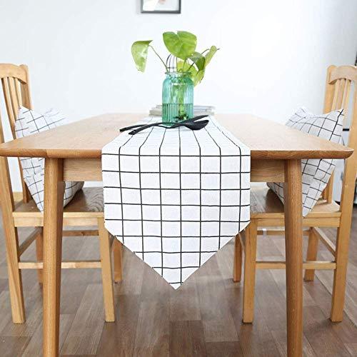 AQWESD Tischläufer Einfache Moderne Geometrische Tischläufer Kommode Für Hochzeit Urlaub Tisch Tischset Esszimmer Party Urlaub Dekoration