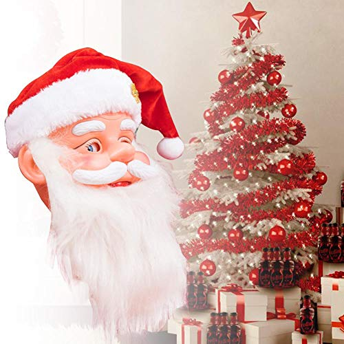 awhao-123 Electric Music Cap Santa Claus Singing Dancing Christmas Decoration Ornament Innovative Doll Toy Funny Gift for Children Handy Remarkable