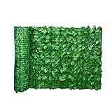 Foglia Fence Pannelli foglia artificiale schermo Hedge recinto privacy Rotolo parete abbellimento esterno giardino sul retro balcone Fence 0.5x3M Cortile Summer Decoration