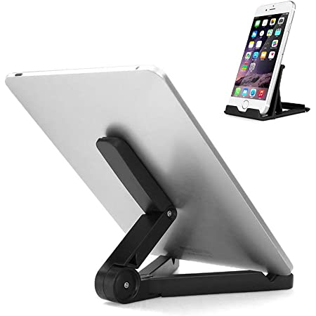 King Shine combo offer Multi-Angle Portable & Universal Stand 7-10 inch Black Cradle for Tablets, Adjustable Tablet Holder, Mobile Table Mount Support Desk Compatible with iPad, Smartphones, Kindle Accessories , mobile stand for online classes