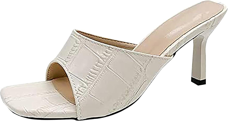 Award Women's Heeled Sandals Square Toe Heels Manufacturer regenerated product On Party Sli Slip Kitten