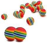 euhuton 15 STK Haustier Hunde Katze Spielbälle Weichschaum Regenbogen Spielzeuge