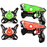 kidpal Infrared Laser Tag, Upgraded Blasters Gun Toys with Vest Infrared Battle Mega Pack Set of 2 Indoor and Outdoor, Group Activity Fun for Kids Age 5 6 7 8 9 10 11 12+ Years Boys Girls