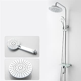Caribou High-end Bathroom Shower Systems 3-Setting Luxury Rain Mixer Shower Combo Set with Slide Bar,Chrome