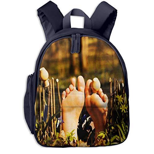 Kinderrucksack Zaun Palisade Frau Babyrucksack Süßer Schultasche für Kinder 2-5 Jahre