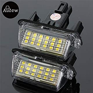 Professional 2pcs Error Free 18 Led License Number Plate Light Bulb Car Fit Yaris Hybrid, Number Plate Lights - Jr Number Plate, License Plate Light, German License Plate, Number Plate Frame