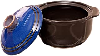Korean Earthenware Hot Pot Stone Bowl with Lid for Stew Boiled Dishes